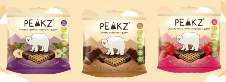 Peakz cruncy chocolade snacks